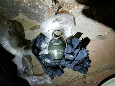 מחסניות, תחמושת ורימונים נתפסו הערב בישוב טובא זנגרייה
