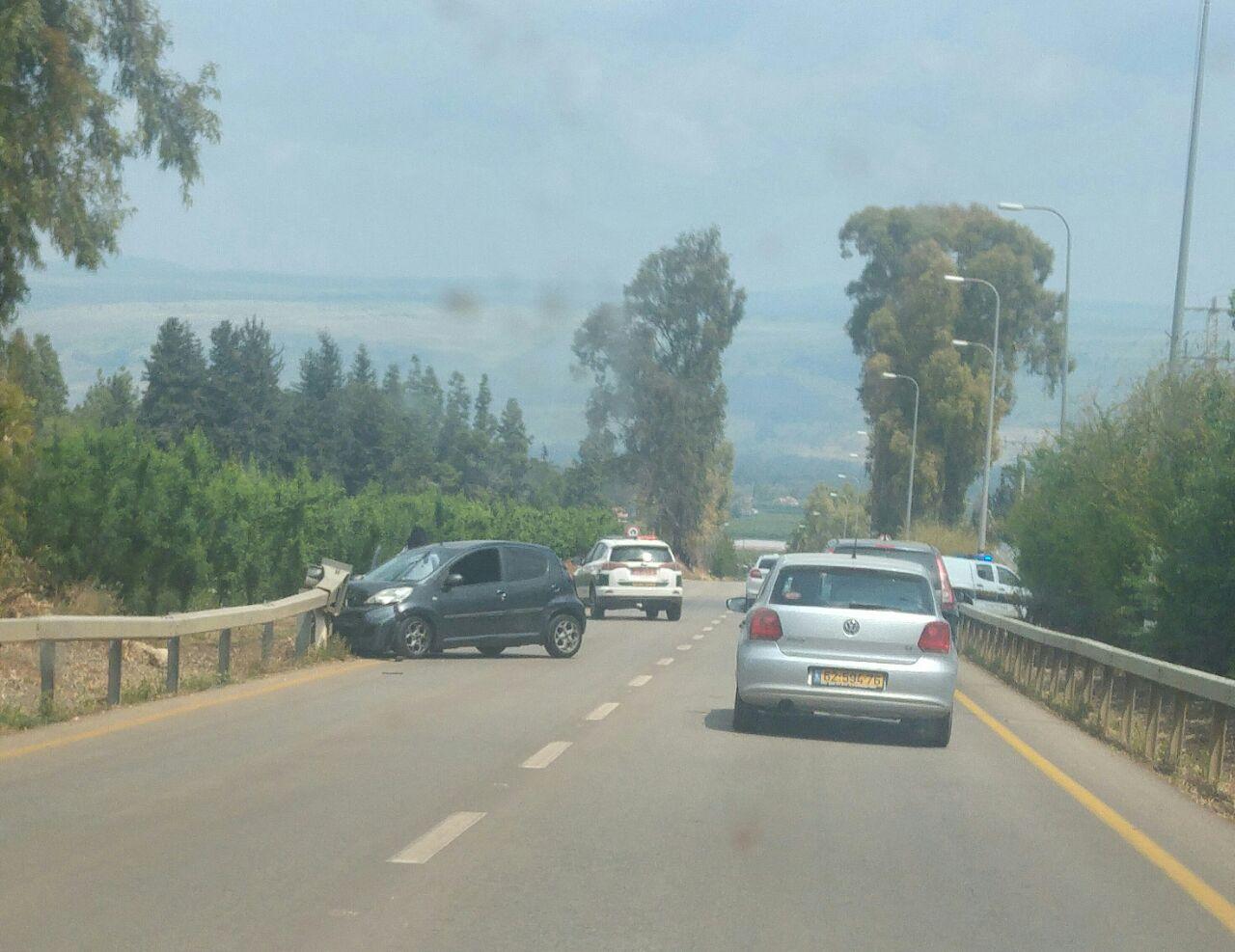 תאונת דרכים בכניסה ליסוד המעלה