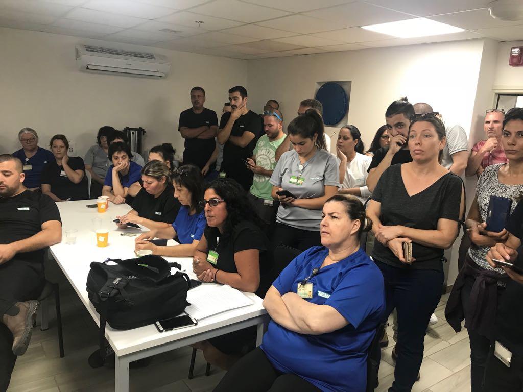 """שביתה בטבע """"מיגדה"""" בקריית שמונה: העובדים חוששים מעתידם התעסוקתי"""