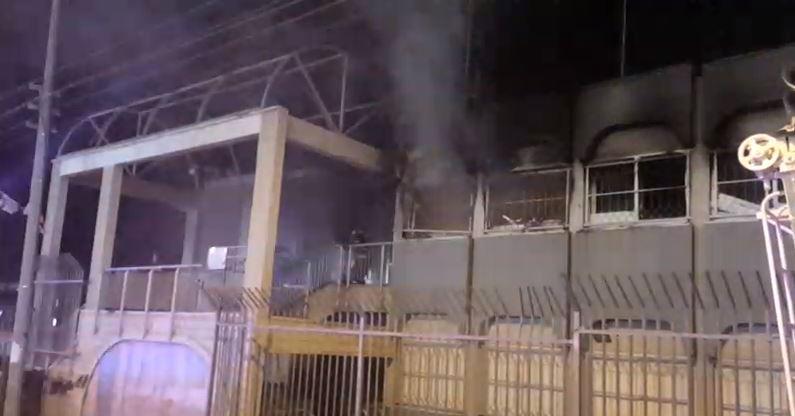 פרצה שריפה במבנה המועצה המקומית בכפר טובא זנגרייה