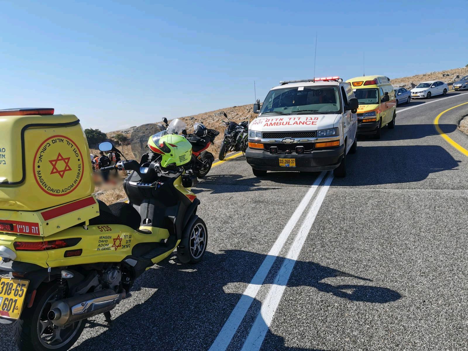 נקבע מותו של רוכב אופנוע שהחליק בכביש 899 ממלכיה לכיוון רמות נפתלי