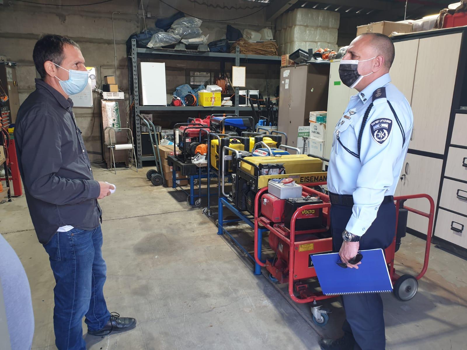 ביקור מפקד מרחב כנרת במשטרה במועצה אזורית הגליל העליון
