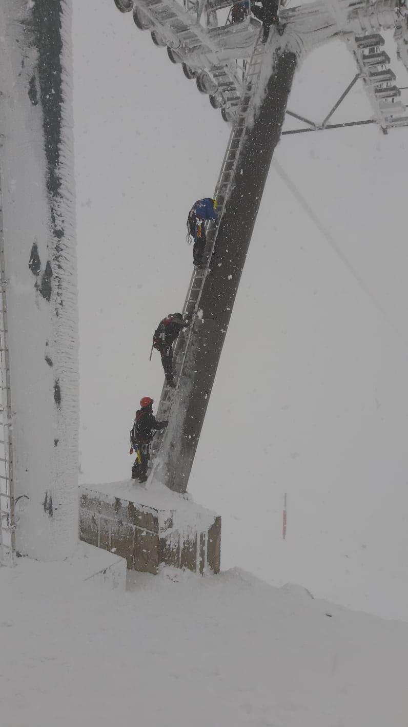 שלג כבד באתר החרמון עם 80 ס״מ שנערמו במפלס התחתון