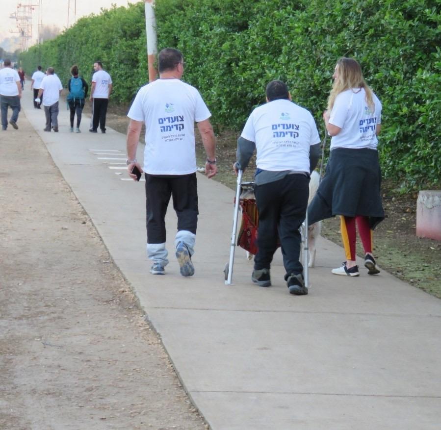 מיזם משותף לסטודנטים מהחוג לחינוך וחברי מרחב עמותת נגישות ישראל: הליכה יחד
