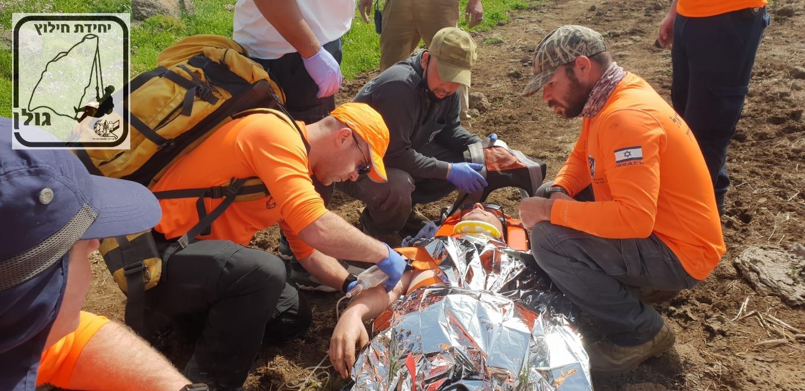 יחידת חילוץ גולן חילצו תושב רמת הגולן שנפל מסוס ברמת הגולן