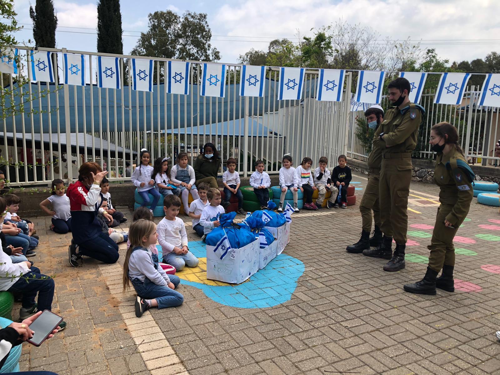 ילדי ראש פינה ארחו את חיילי גדוד איילים בפיקוד הצפון