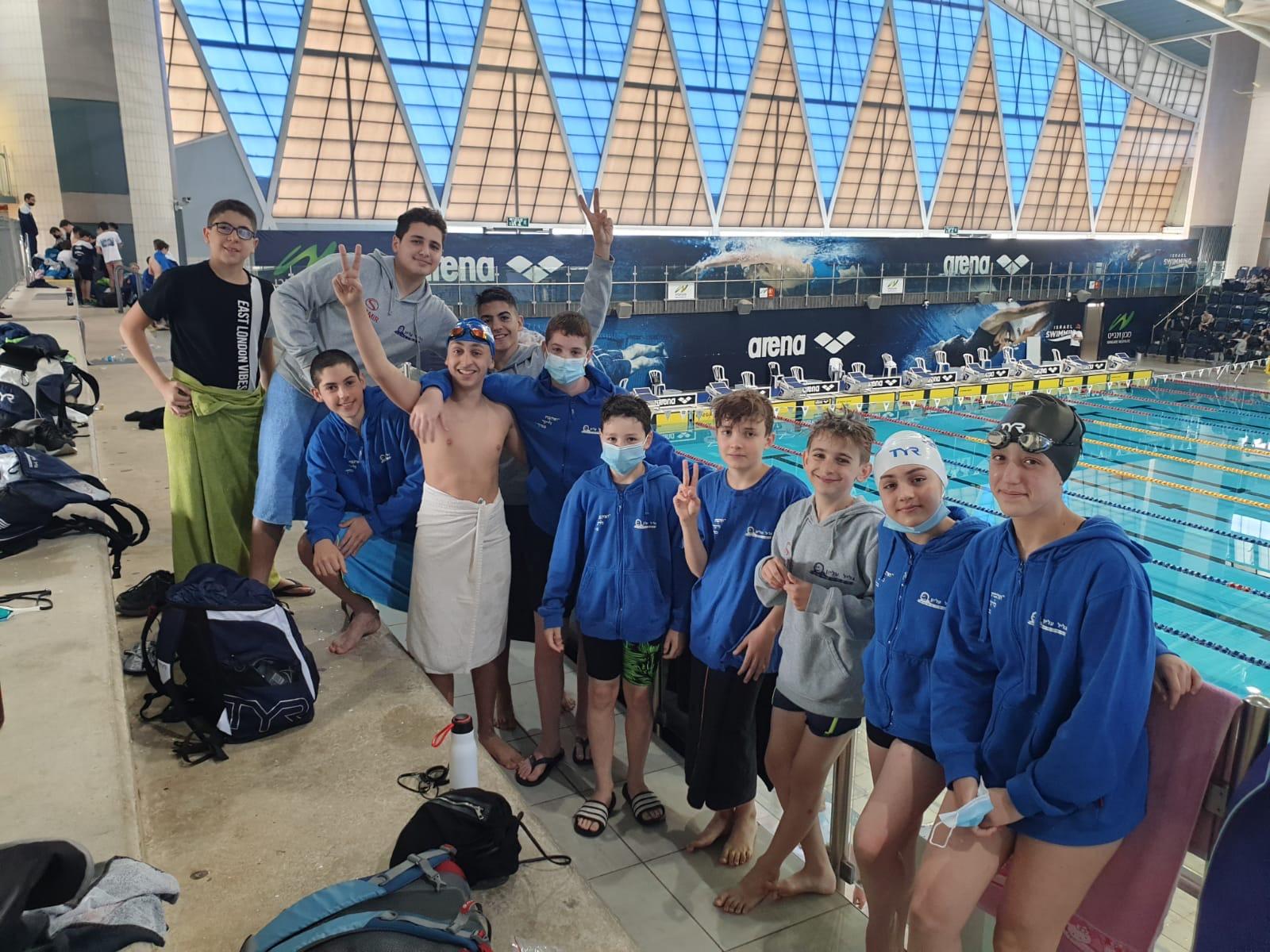 תחרות ליגה מוצלחת לשחייני הנוער בעמותת הספורט של הגליל העליון