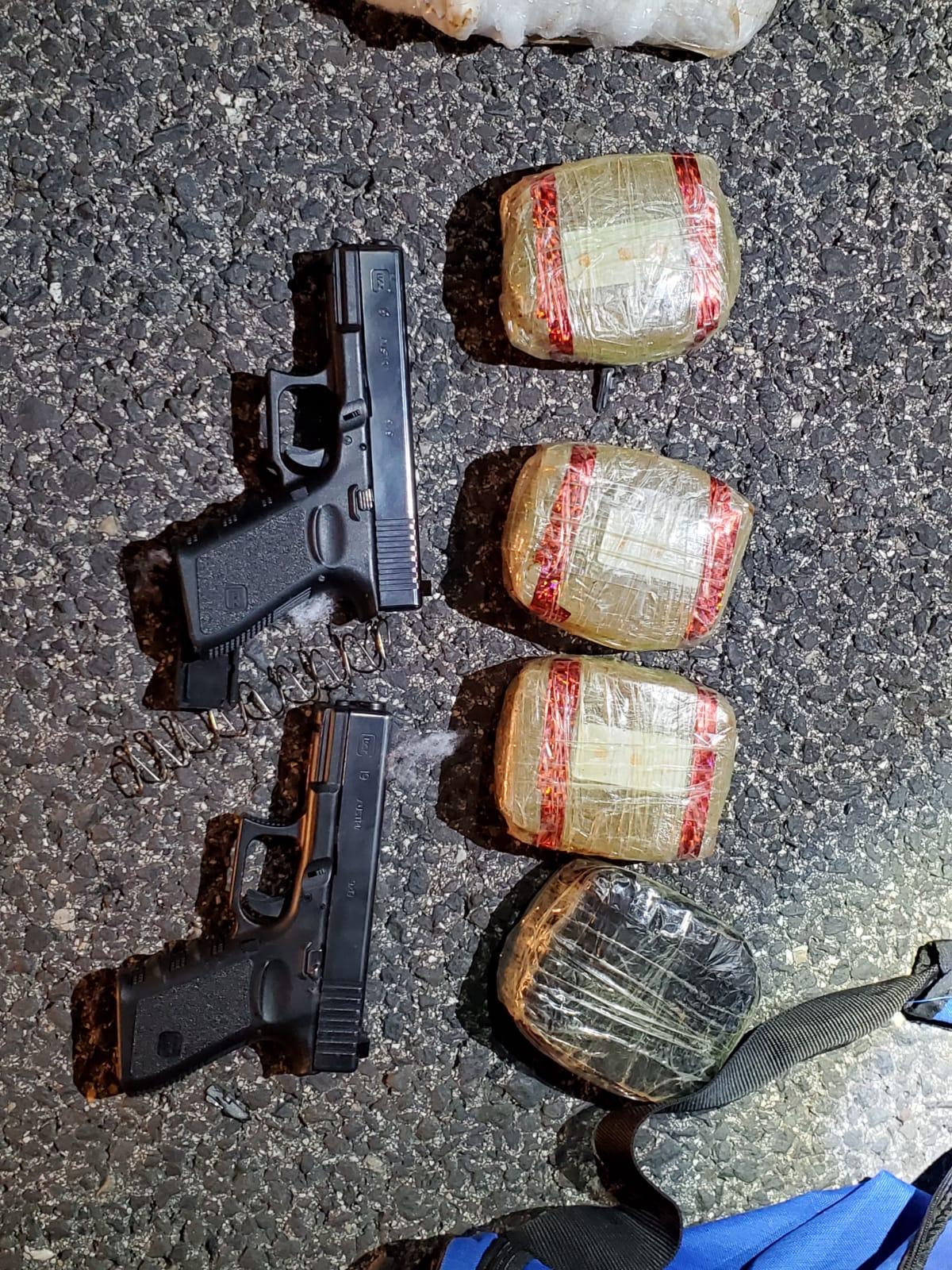 משטרת ישראל וצה״ל סיכלו הברחת נשק וסמים סמוך לצומת הגומא