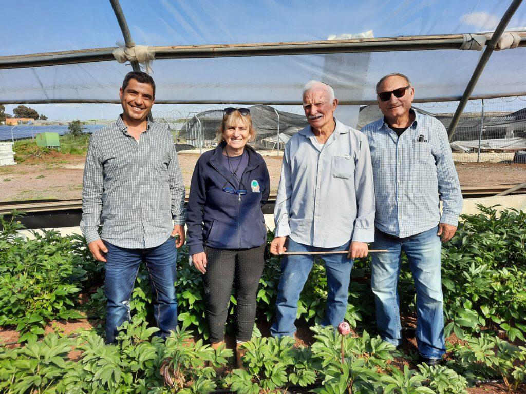 """מו""""פ צפון במכון המחקר מיגל חשף לחקלאים בגולן טכנולוגיה חדשנית לגידול פרח האדמונית"""