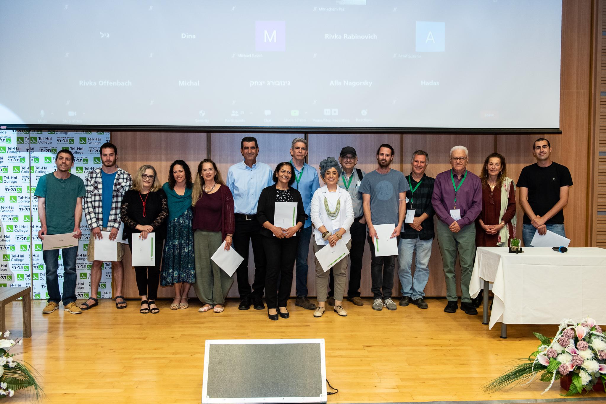 """פרסי קק""""ל על עבודות מחקר מצטיינות הוענקו לסטודנטים מהמכללה האקדמית תל חי"""