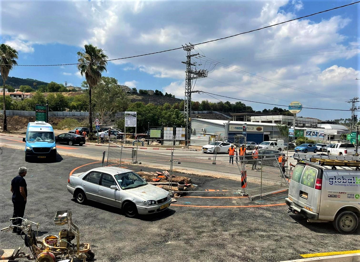 בשורה לתושבי חצור הגלילית: כיכר חדשה בכניסה לאזור התעשייה