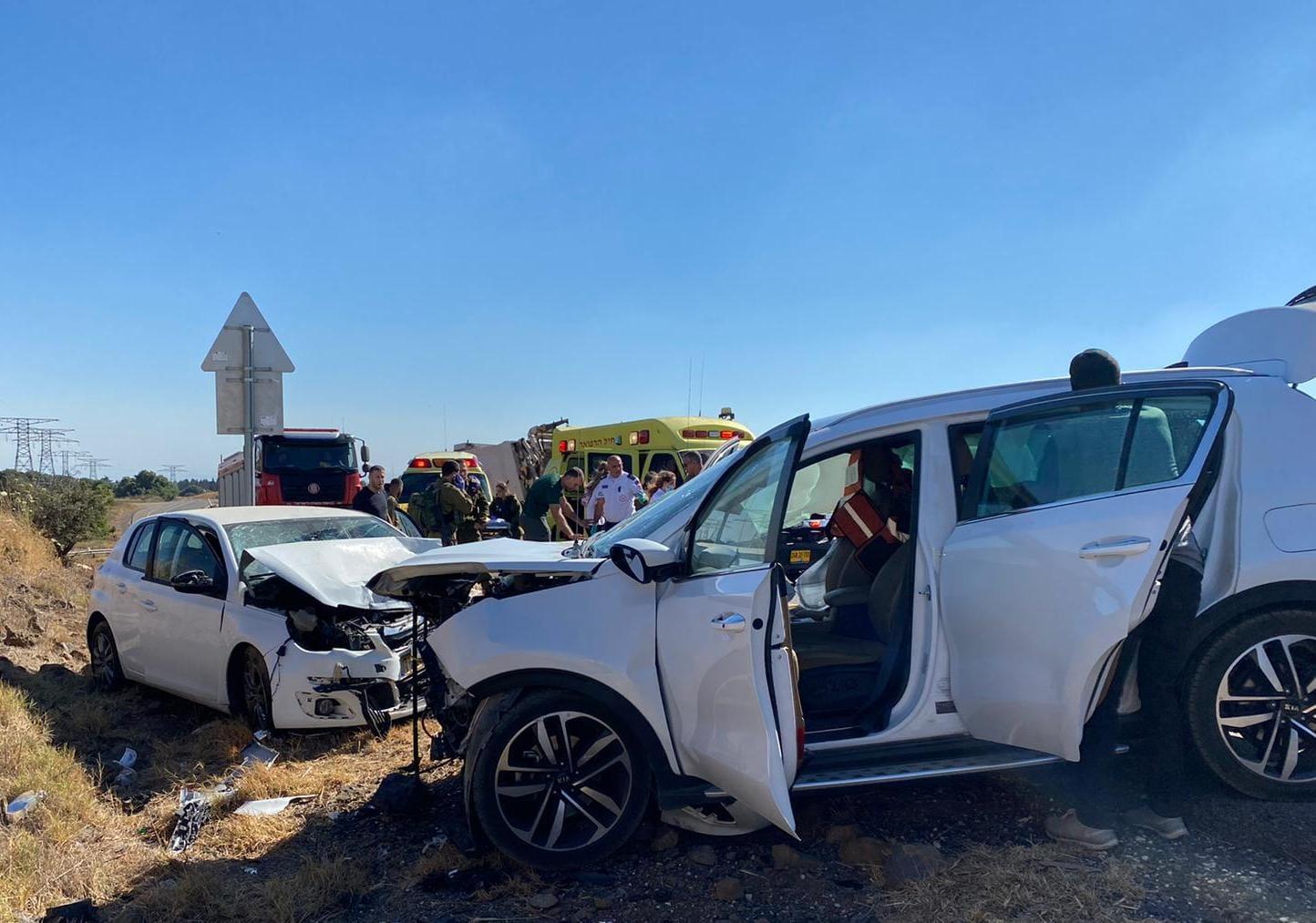 הרוגה בתאונת דרכים בכביש 91 סמוך לאורטל ברמת הגולן