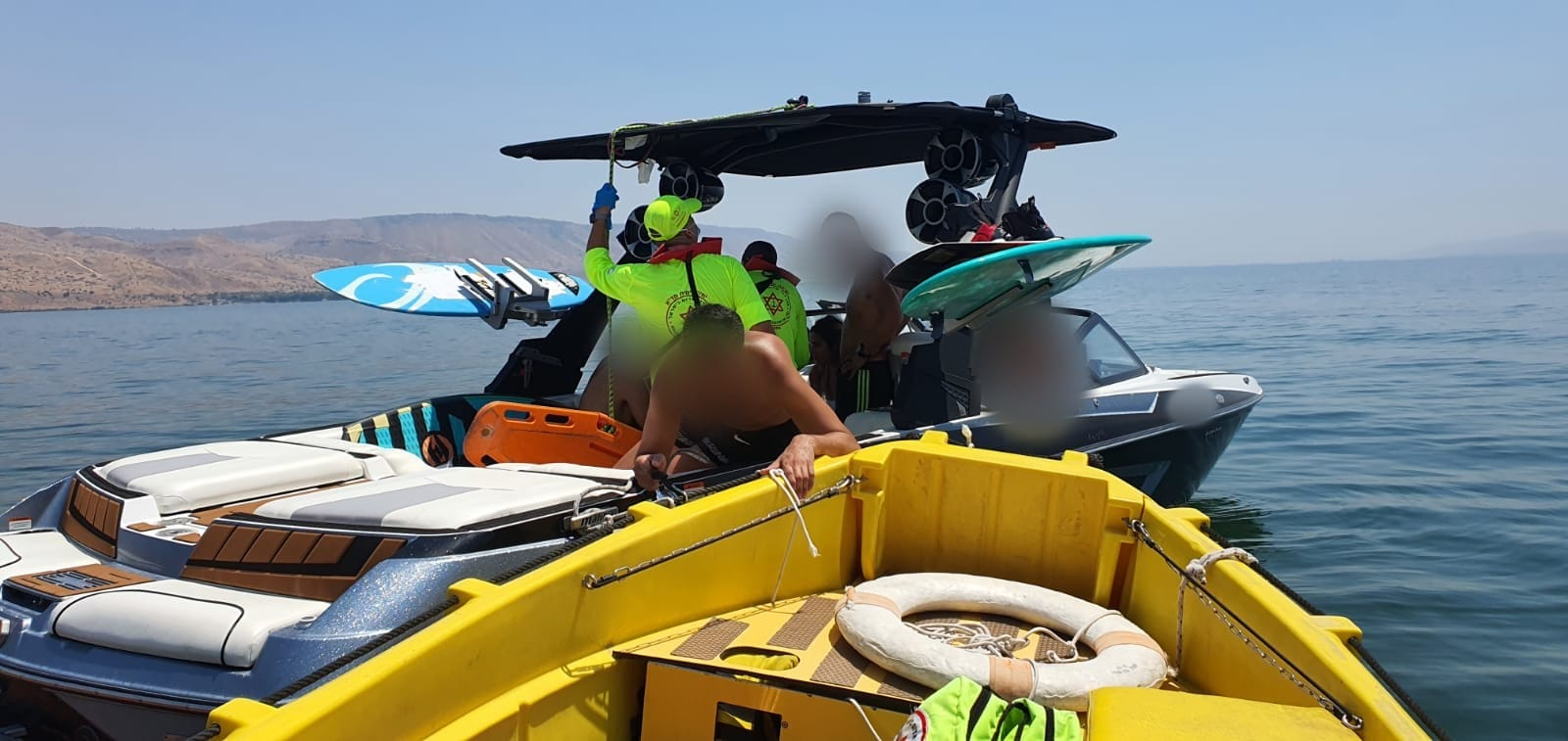 גבר בן 41 נפל מסירה ונחבל בגבו סמוך לחוף צאלון בכנרת