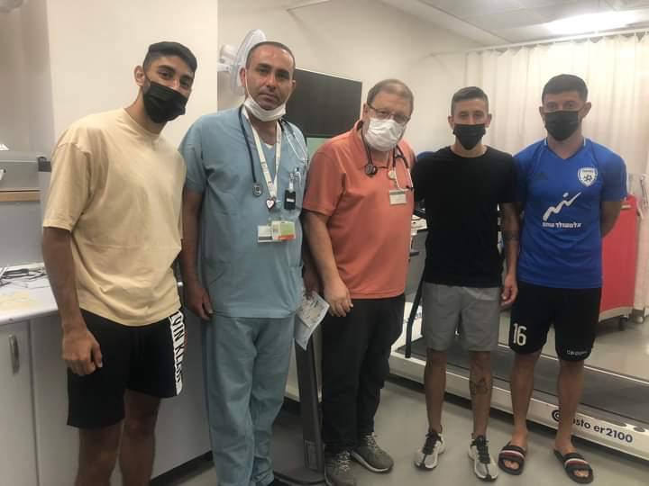 שחקני עירוני איתוראן קריית שמונה הגיעו לבדיקות טרום עונה במכון לרפואת ספורט במרכז הרפואי זיו